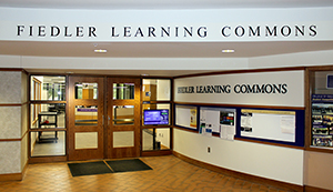 Fiedler Learning Commons entrance